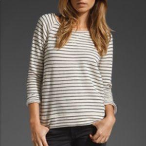 Soft Joie Striped Terry Sweatshirt Pullover sz XS